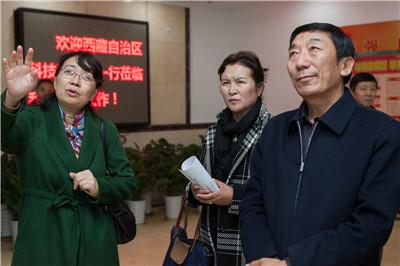 西藏自治区科技厅赤来旺杰厅长一行到 四川省科学技术信息研究所调研