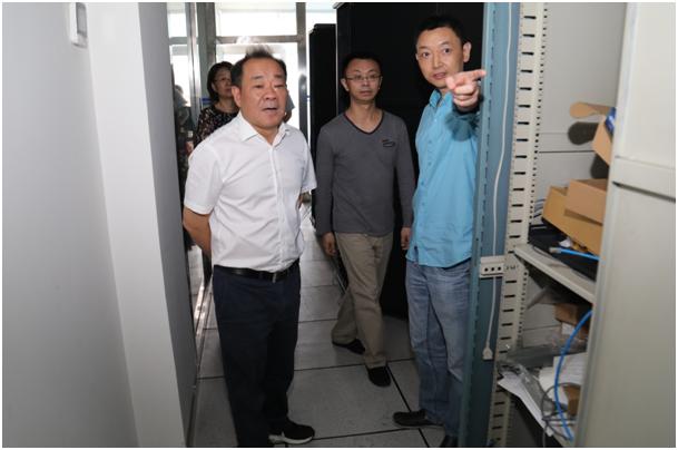 省科技厅田云辉副厅长一行赴省科学技术信息研究所调研指导安全防范工作
